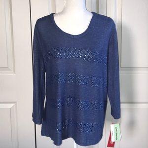 Cathy Daniels. 3/4 length shirt. NWT.